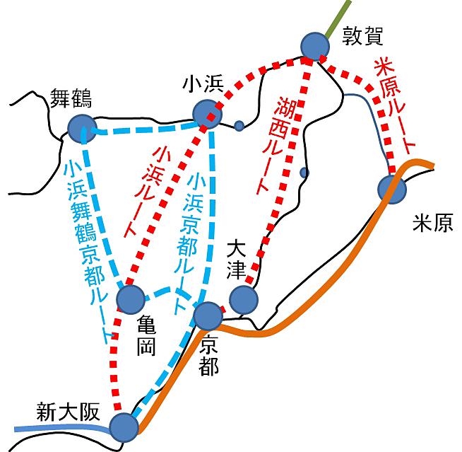 北陸新幹線敦賀以西のルート選定